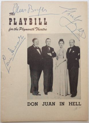 Playbill Signed by Charles Laughton, Charles Boyer, and Cedric Hardwicke. DON JUAN IN HELL