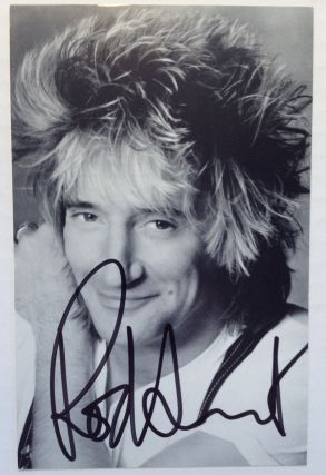 Signed Photograph. Rod STEWART, 1945