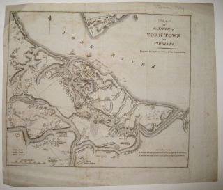Plan of the Siege of York Town in Virginia. Charles STEDMAN