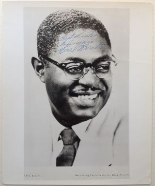 Inscribed Photograrph. Earl BOSTIC, 1913 - 1965