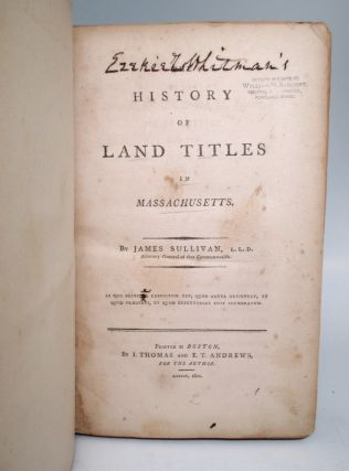 The History of Land Titles in Massachusetts