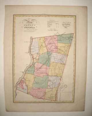 Map of the County of Columbia. David H. BURR