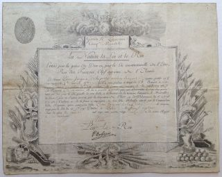 Signed Document. LOUIS XVI, 1754 - 1793