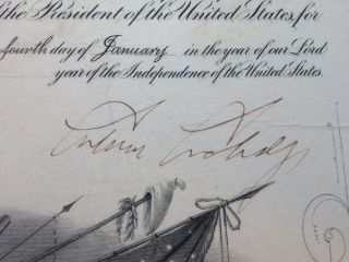 Large Document Signed as President