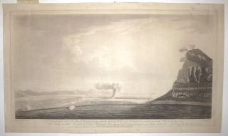 A View from the Bay of a part of Gibraltar, with the Spanish works on the Isthmus as erected against the place in the late Siege