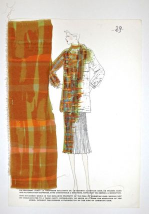 Spring/Summer 1976 Croquis, Plate 29. Christian DIOR.