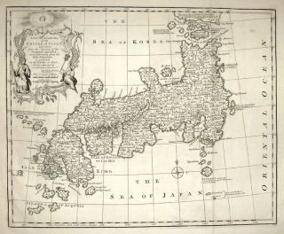 A New and Accurate Map of the Empire of Japan. Emanuel BOWEN