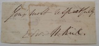 Clipped Signature. Edward N. KIRK, 1828 - 1863
