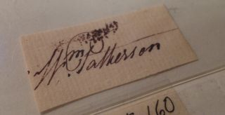 Clipped Signature. William PATTERSON, 1745 - 1835