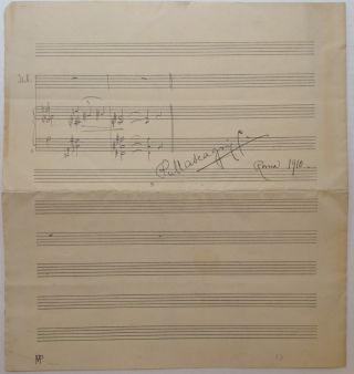 Lengthy Autographed Musical Quotation Signed