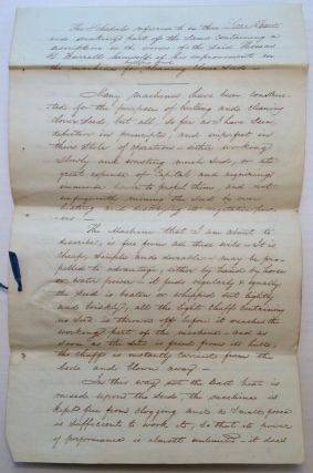 Autographed Manuscript Signed. Thomas Davies BURRALL, 1786 - 1872