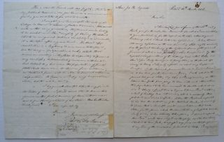 Autographed Letter Signed to U.S. Whig Congressman Joseph Reed Ingersoll. Peter Stephen DU...