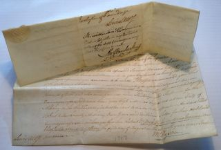 Autographed Document Signed on Vellum. Abraham BANCKER, 1760 - 1832.