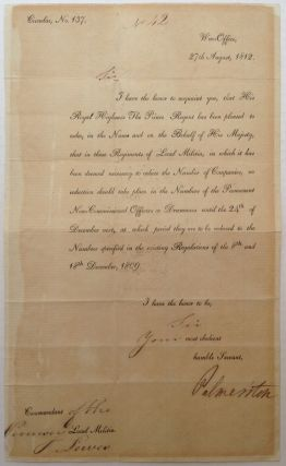 Document Signed. Henry John TEMPLE, 1784 - 1865