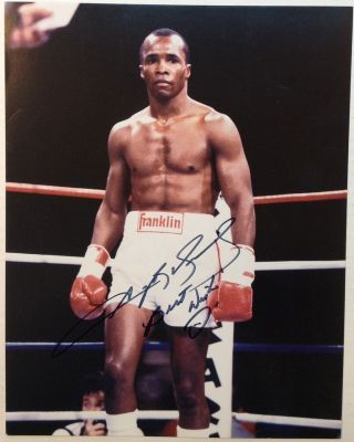 Signed Photograph. Sugar Ray LEONARD, 1956