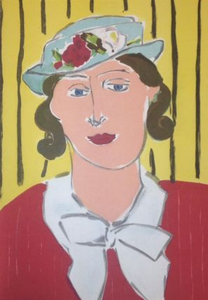 "[COLOR LITHOGRAPH] ""Femme au Chapeau / Woman with Hat"" Henri MATISSE."