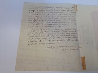 Outstanding Autographed Letter Signed as President. James MONROE, 1758 - 1831