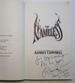 The Nameless. Ramsey CAMPBELL.