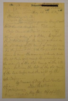 "Autographed Document Signed on ""Headquarters Army of the Potomac"" letterhead. Joseph HOOKER"