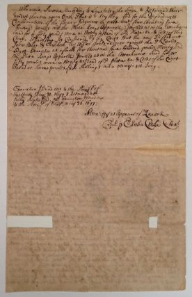 Autographed Legal Document Signed
