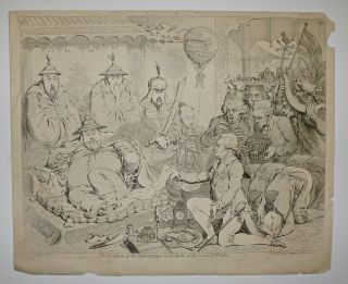 The Reception of the Diplomatique & his Suite, at the Court of Pekin. James GILLRAY