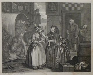 A Harlot's Progress. Ernst Ludwig RIEPENHAUSEN, William after HOGARTH