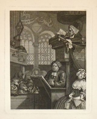 The Sleeping Congregation. Ernst Ludwig RIEPENHAUSEN, William after HOGARTH