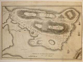 Sketch of Bunker Hill Battle. Samuel SWETT