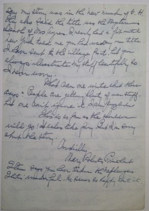 Autographed Letter Signed to editor Herbert Mayes