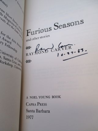 Furious Seasons and other stories