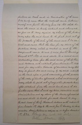 Rare Document Signed about land in Pennsylvania