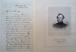 Autographed Letter Signed. John Godfrey SAXE, 1816 - 1887