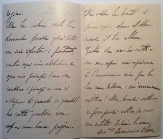 Autographed Letter Signed in Italian