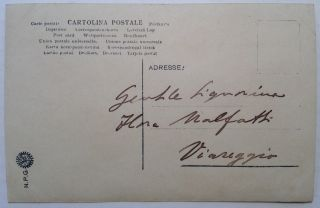 Inscribed Vintage Postcard