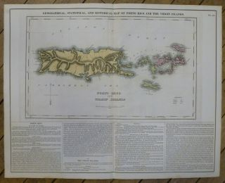 Geographical, Statistical, and Historical Map of Porto Rico and the Virgin Islands. CAREY, LEA
