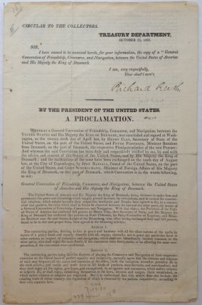Signed Treaty from the Treasury Department. Richard RUSH, 1780 - 1859