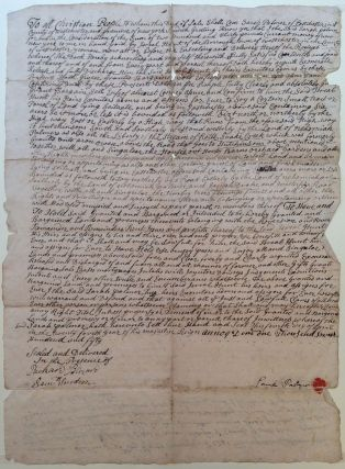 18th-Century Document Authorizing a Sale of Land. NEW YORK CITY REAL ESTATE