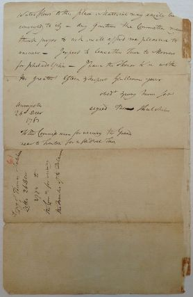 Autographed Document Signed about Government Land