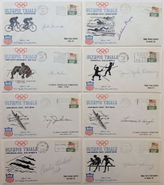 21 Autographed First Day Covers