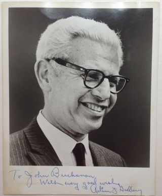 Inscribed Photograph. Arthur GOLDBERG, 1908 - 1990