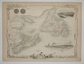 Nova Scotia and Newfoundland. John TALLIS.