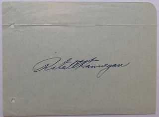 Signed Album Page. Robert E. HANNEGAN, 1903 - 1949.