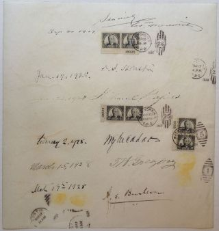 Collection of 10 signatures including Herbert Hoover