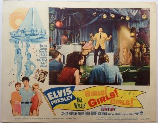"Three Lobby Cards for the film ""Girls Girls Girls"""