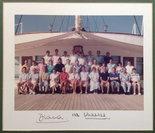 Signed Photograph. DIANA and CHARLES