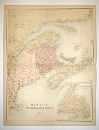 Canada, New Brunswick, Nova Scotia, &C. East Sheet. Adam and Charles BLACK.