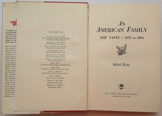 An American Family: The Tafts - 1678 to 1964