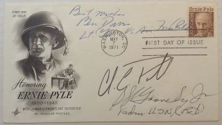 Signed First Day Cover. AFRICAN-AMERICAN MILITARY LEADERS