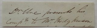 Clipped Signature. Andrew URE, 1778 - 1857