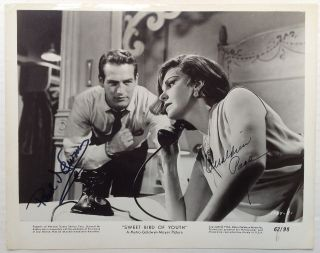 Signed Photograph. Paul NEWMAN, Geraldine PAGE